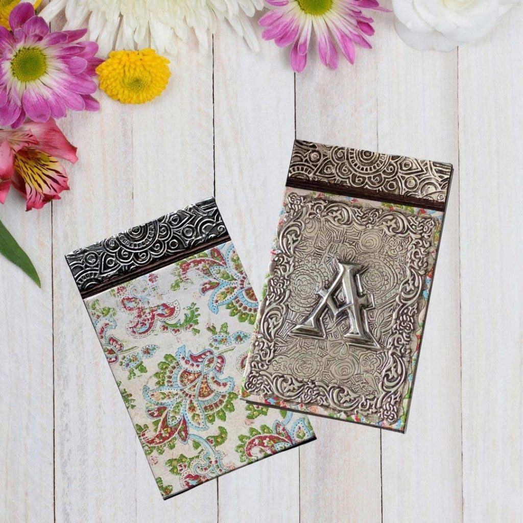 pewter-sheets-for-embossing-notebook-cover-before-after